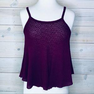 RUE21 Plum Purple Soft Knit Tank Top